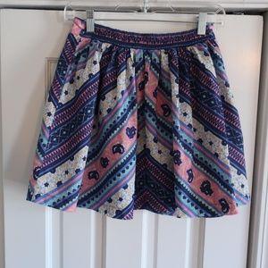 Free People S/P Boho Mini Skirt Pink & Navy